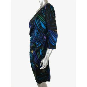 Kay Unger Dresses - Kay Unger Sheath Dress Sz 12 Silk Spandex Lined